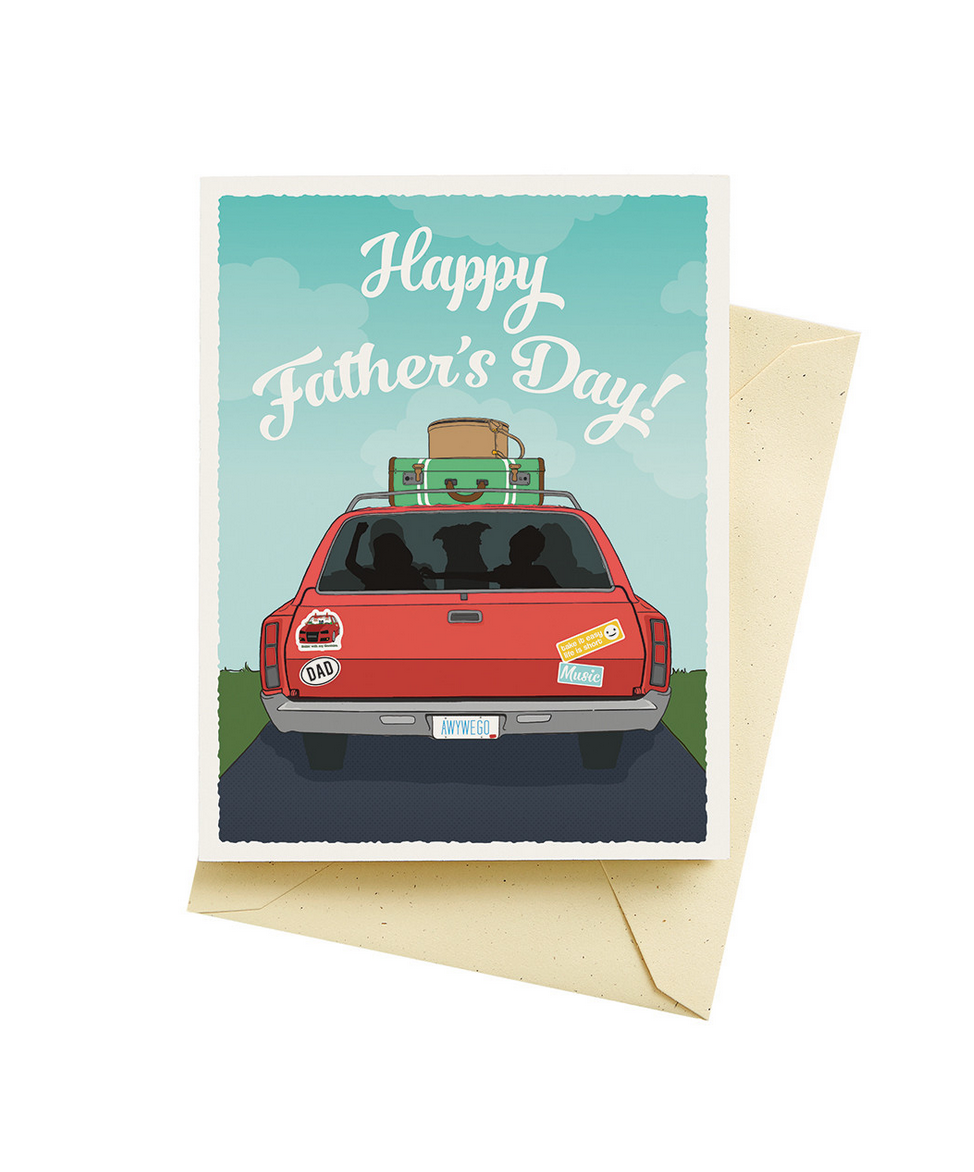 Seltzer Backseat Driver Father's Day Card