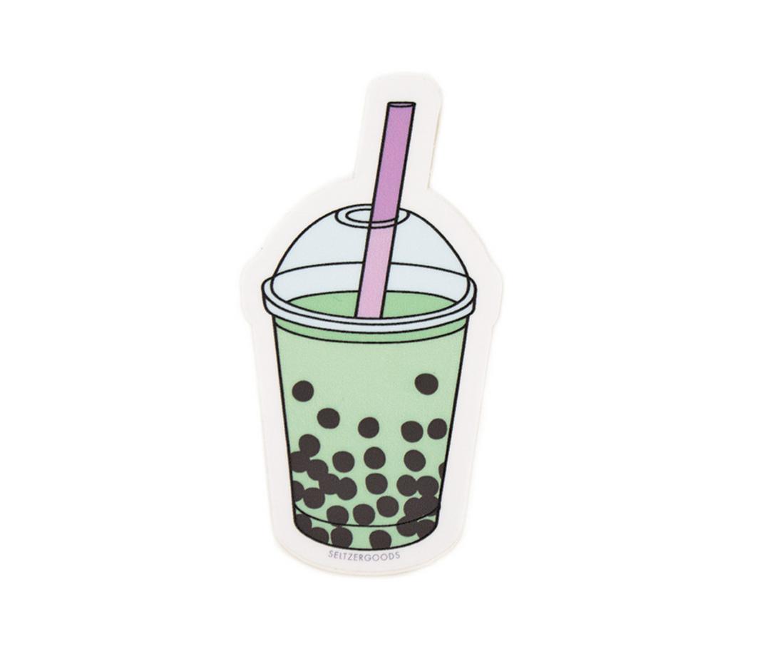 Seltzer Bubble Tea Sticker