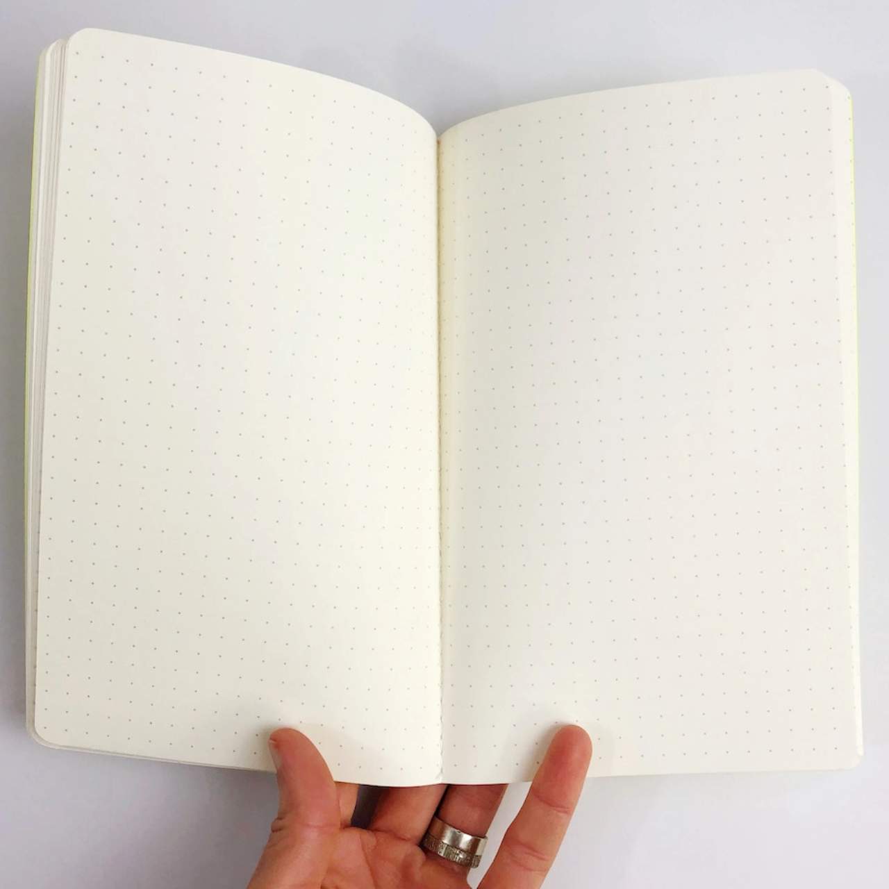 The Rainbow Vision Space Rainbow Dot Notebook in Light Blue