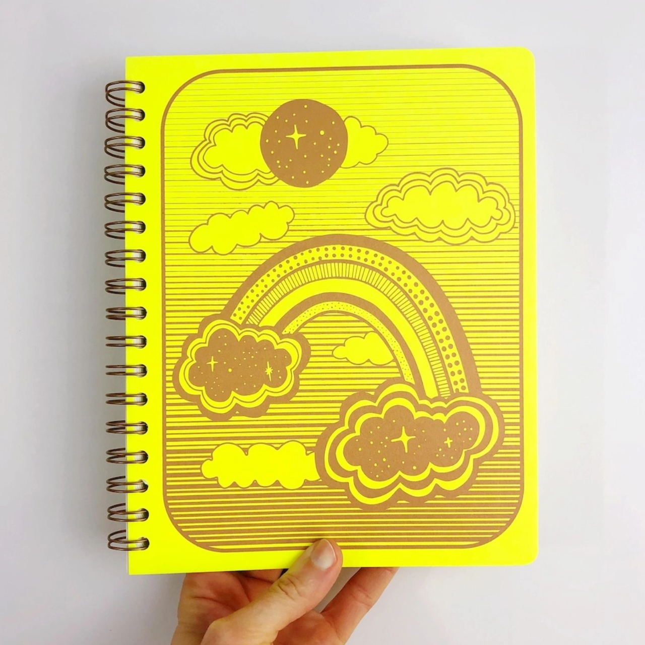 The Rainbow Vision Space Rainbow Dot Journal in Lemon