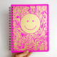 The Rainbow Vision Smiley Dot Journal in Fuchsia