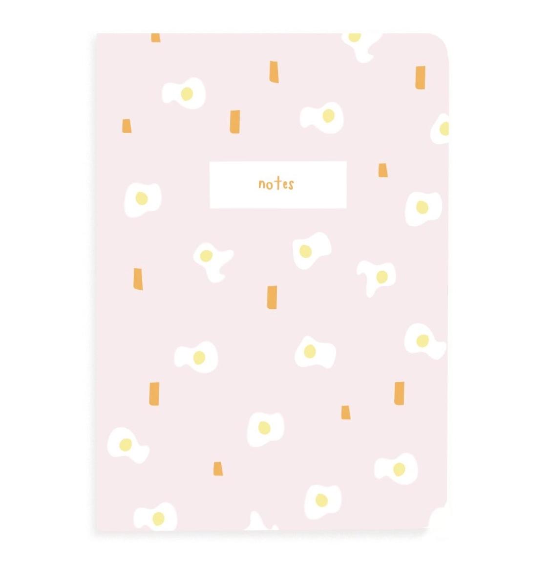 A Jar of Pickles Pink Egg Pocket Grid Notebook