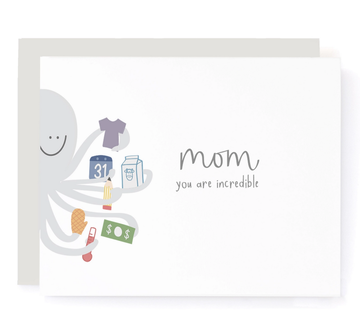 A Jar of Pickles Multitasking Octopus Mother's Card