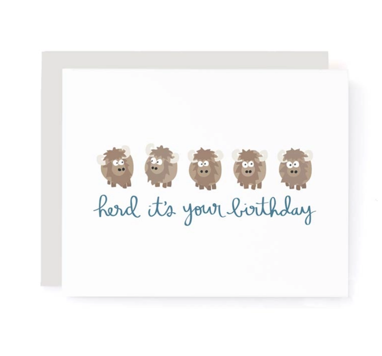 A Jar of Pickles Herd It's Your Birthday Birthday Card