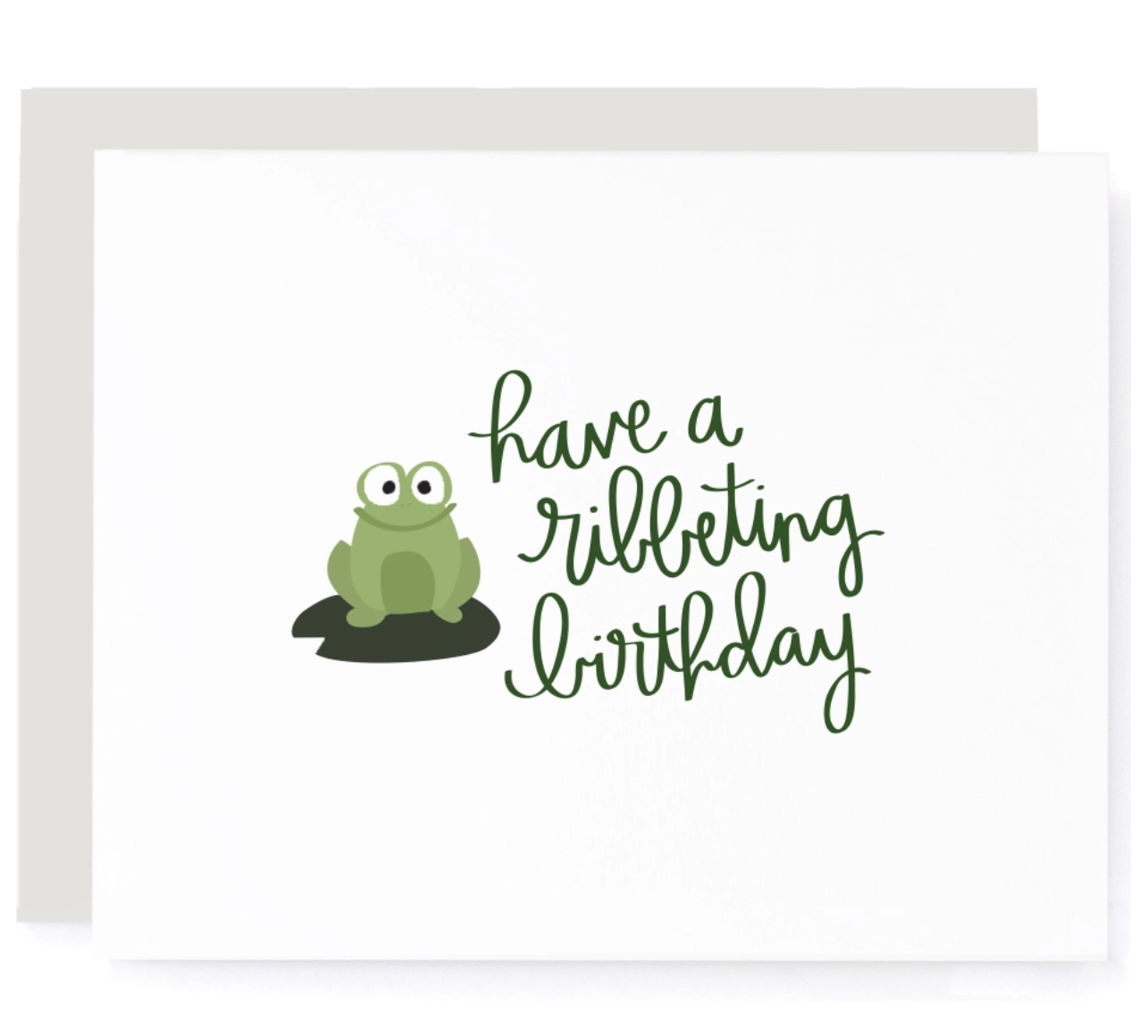 A Jar of Pickles Have a Ribbeting Birthday Card