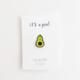 A Jar of Pickles Avocado Pin