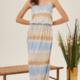 Lush Tie Dye Maxi Dress-Blue Mocha