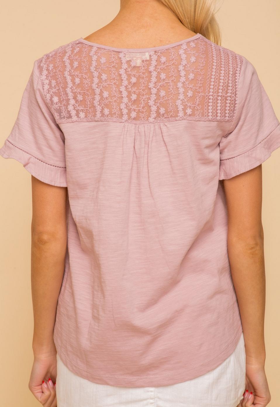 Hem & Thread Felicia Lace Top-Lavender