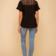 Hem & Thread Felicia Lace Top-Black