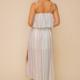 Hem & Thread Tessa Striped Maxi-Sage Multi
