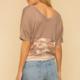 Hem & Thread Marcia Top-Taupe/Blush