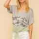 Hem & Thread Marcia Top-Grey/Sage