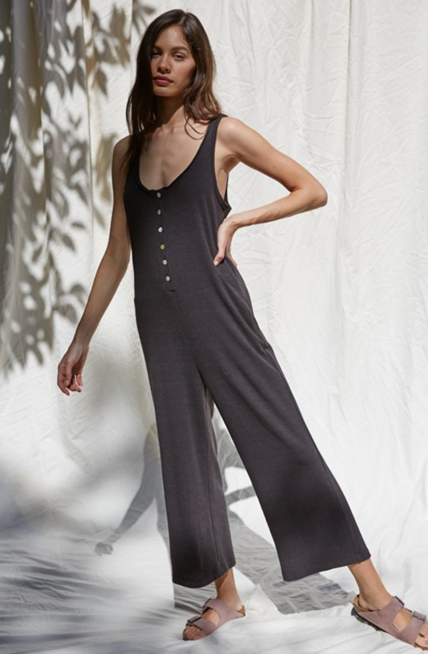 By Together Tricia Jumpsuit-Brushed Black