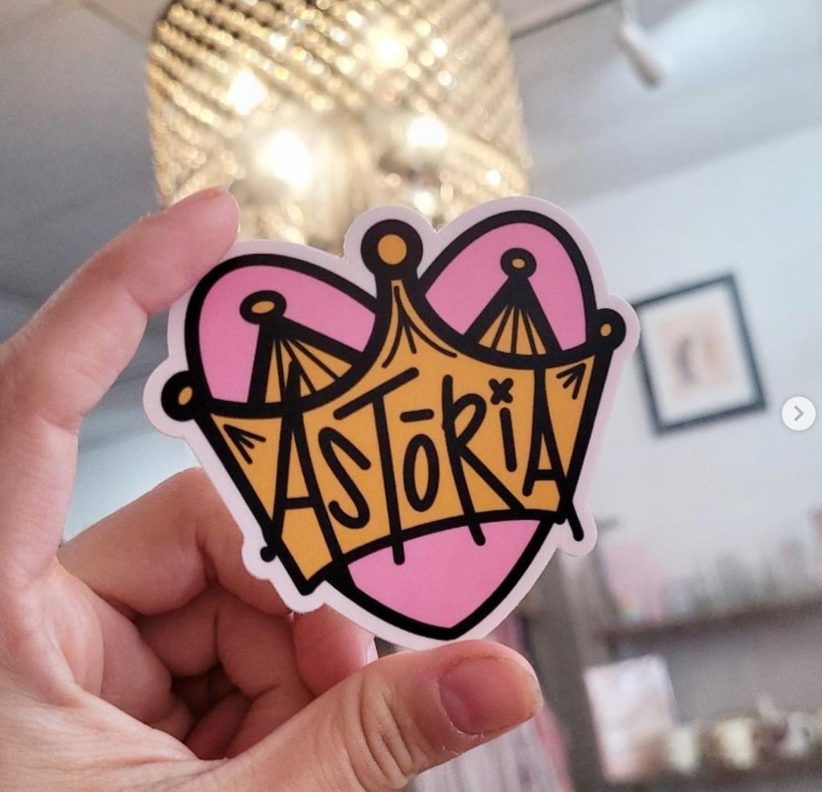 Marissa Monroe Studio Astoria Heart Sticker 2