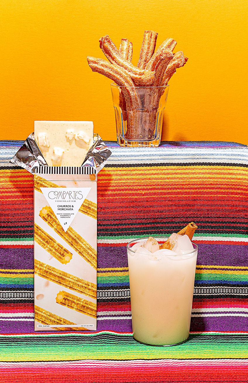 Compartes Chocolate Churros and Horchata Chocolate Bar