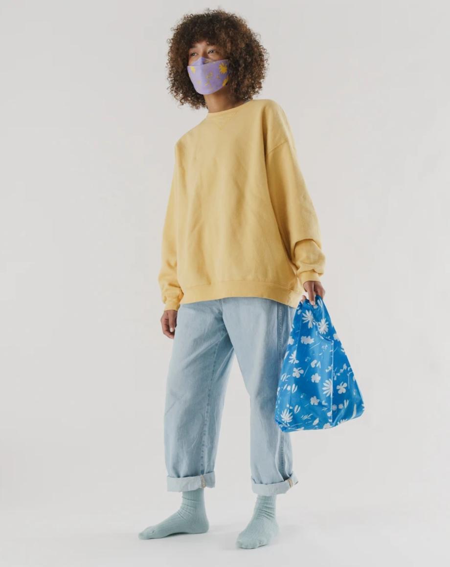 Baggu Baby Baggu-Blue Floral Sun Print