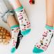 Woven Pear Tutti Frutti Shorty Socks