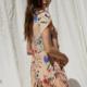 By Together Flora Mini Dress-Peach