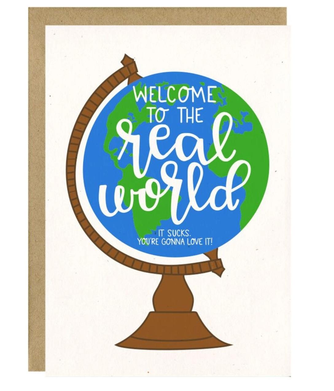 Little Lovelies Studio Real World Graduation Card