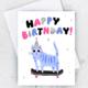 Idlewild Skater Cat Card