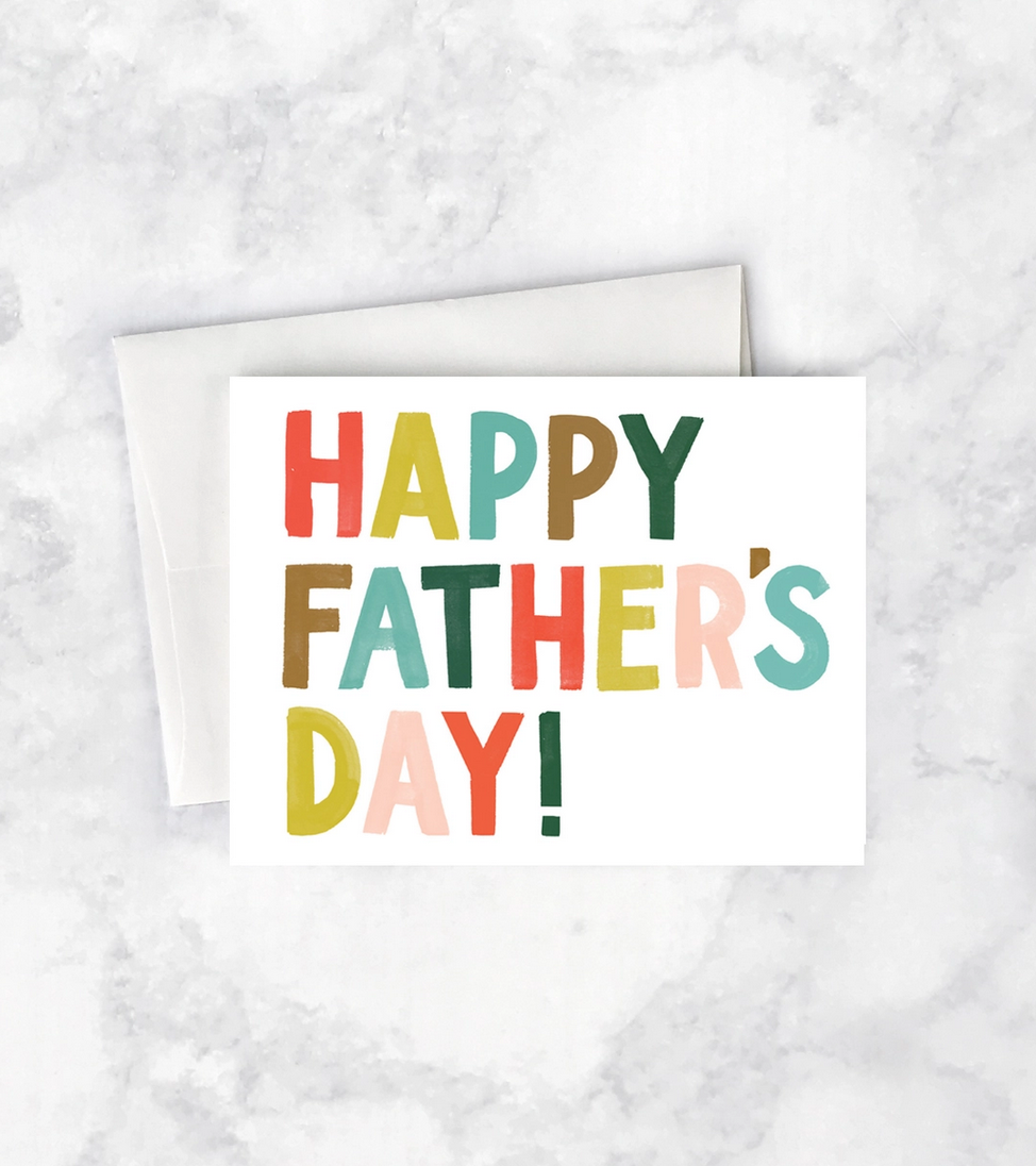 Idlewild Colorful Letters Father's Day