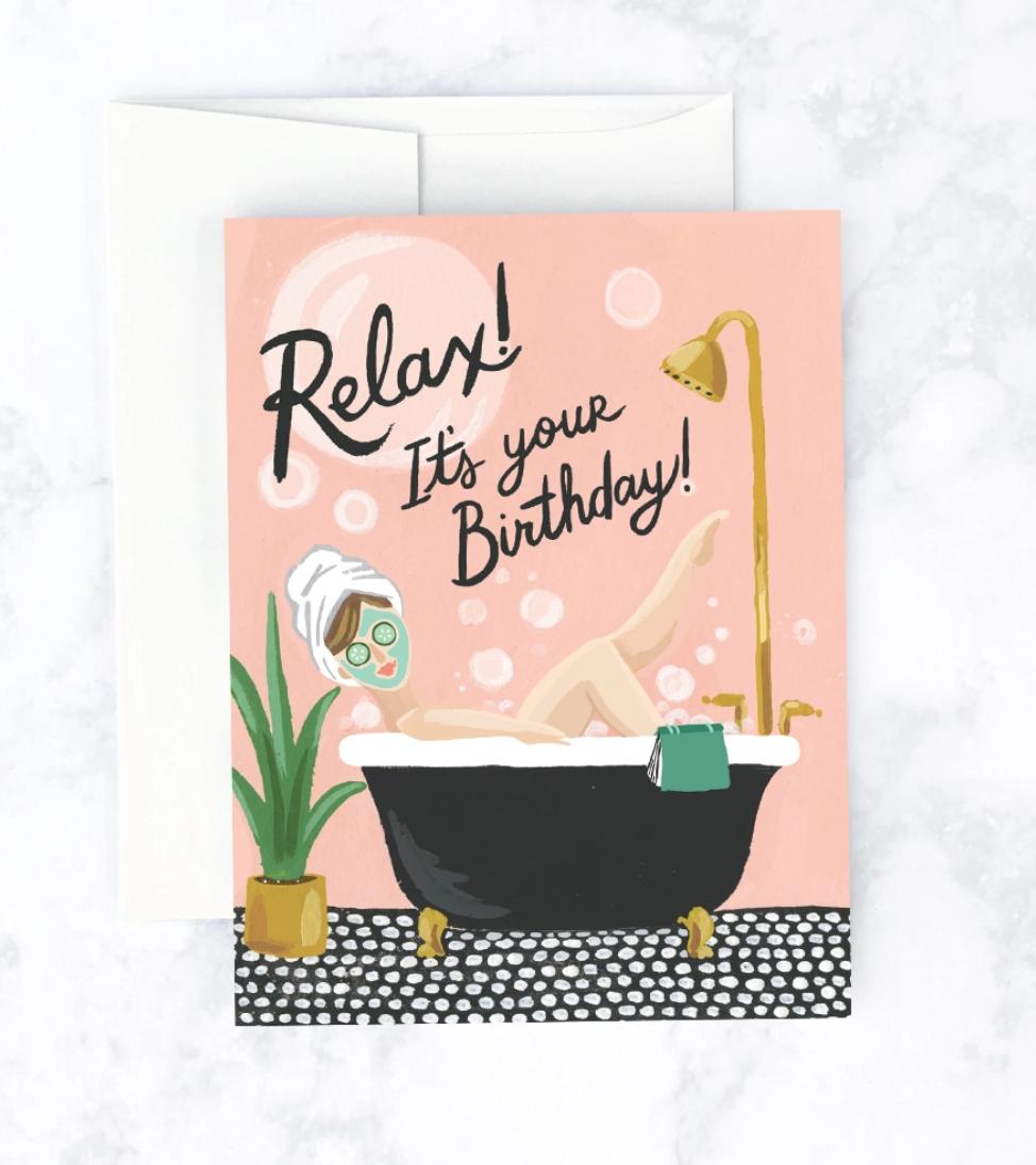 Idlewild Bubble Bath Card