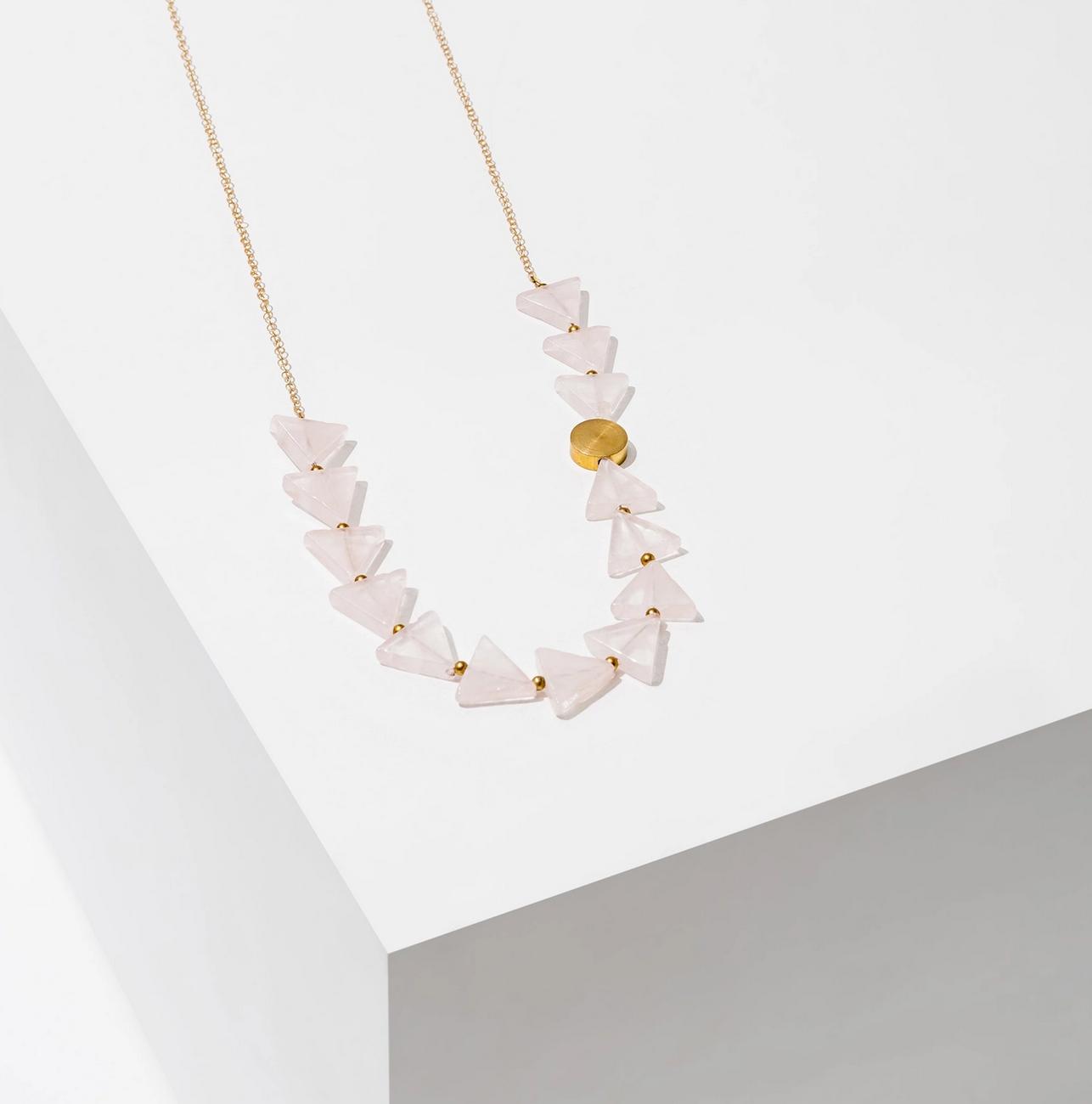 Larissa Loden Aim Necklace Rose Quartz
