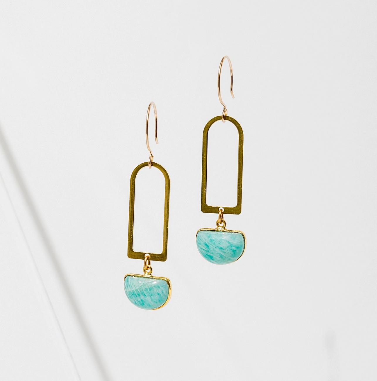 Larissa Loden Casablanca Earrings Amazonite