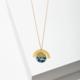 Larissa Loden Elora Necklace  Blue-Green