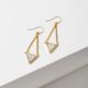 Larissa Loden Tri Drusy Earrings  White