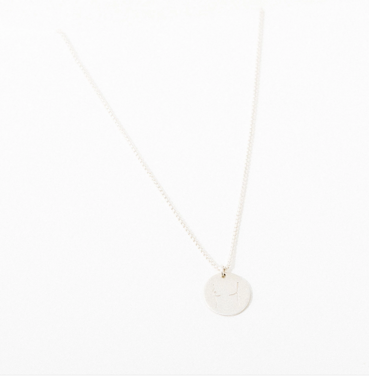 Larissa Loden Mastectomy Pendant Necklace-Sterling Silver