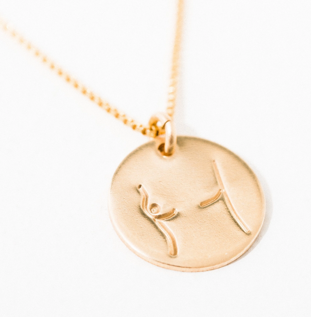 Larissa Loden Mastectomy Pendant Necklace-Gold Filled