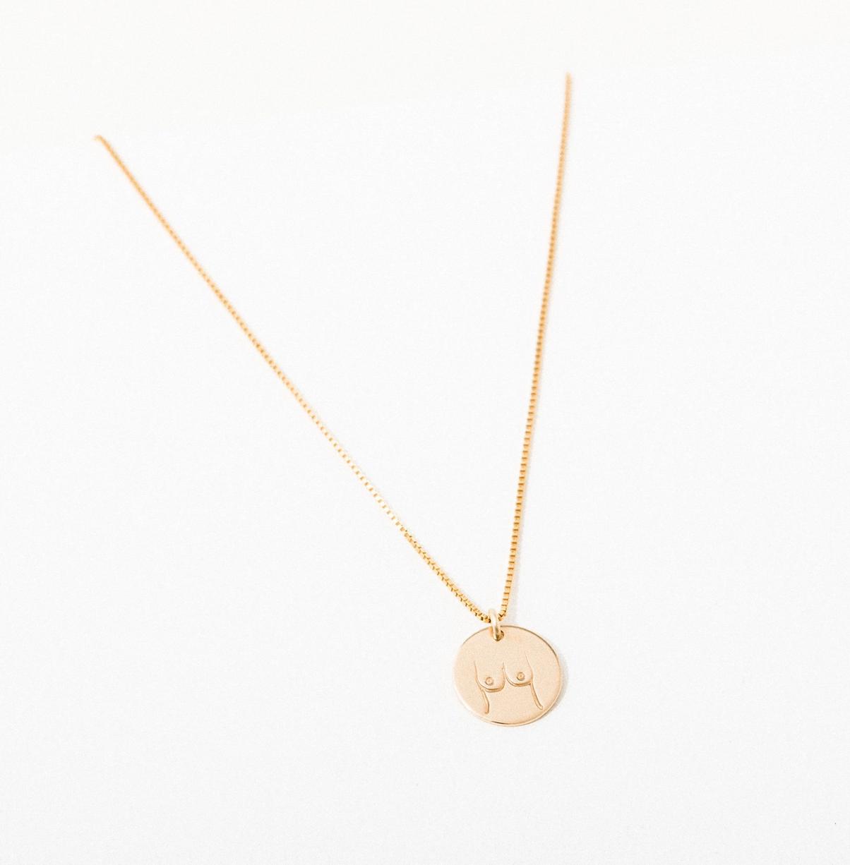 Larissa Loden Boobies Pendant Necklace-Gold Filled