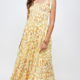 En Creme Virginia Maxi Dress- Yellow Floral