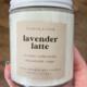 Flower & Folk Lavender Latte Candle