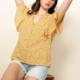 THML Flower Print Blouse- Yellow