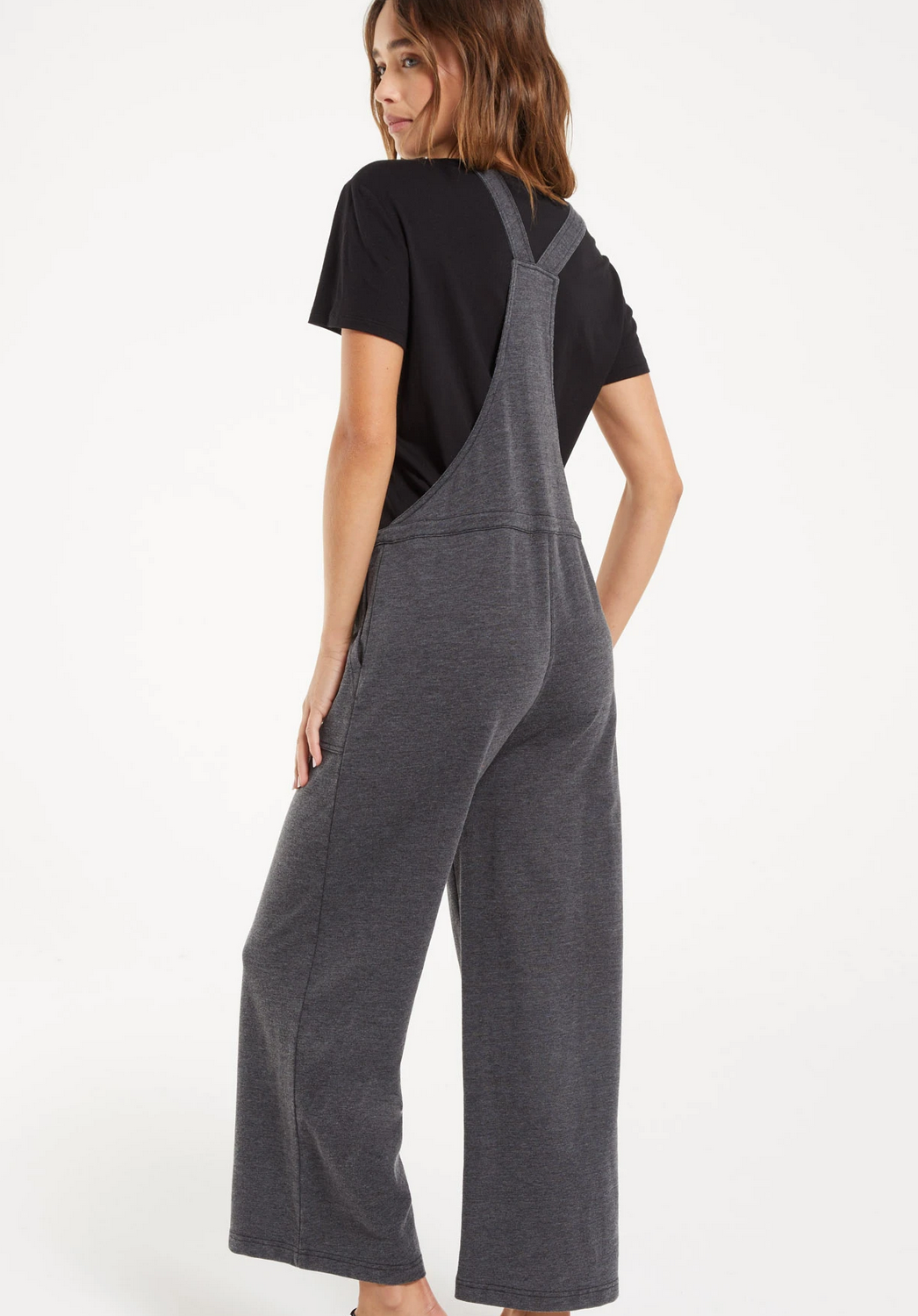 Z Supply Cinched Waist Overalls- Black