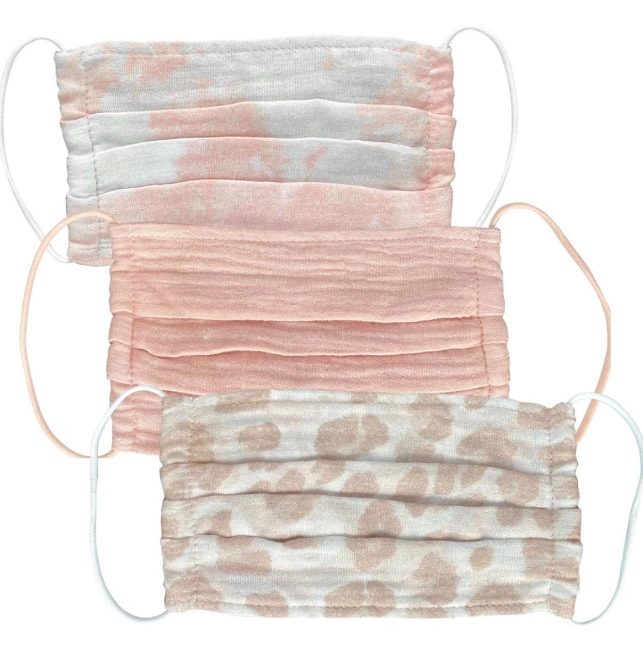 Kitsch Cotton Mask 3pc Set - Blush