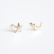 Hooks & Luxe Moon and Star Studs- 14K Gold Fill