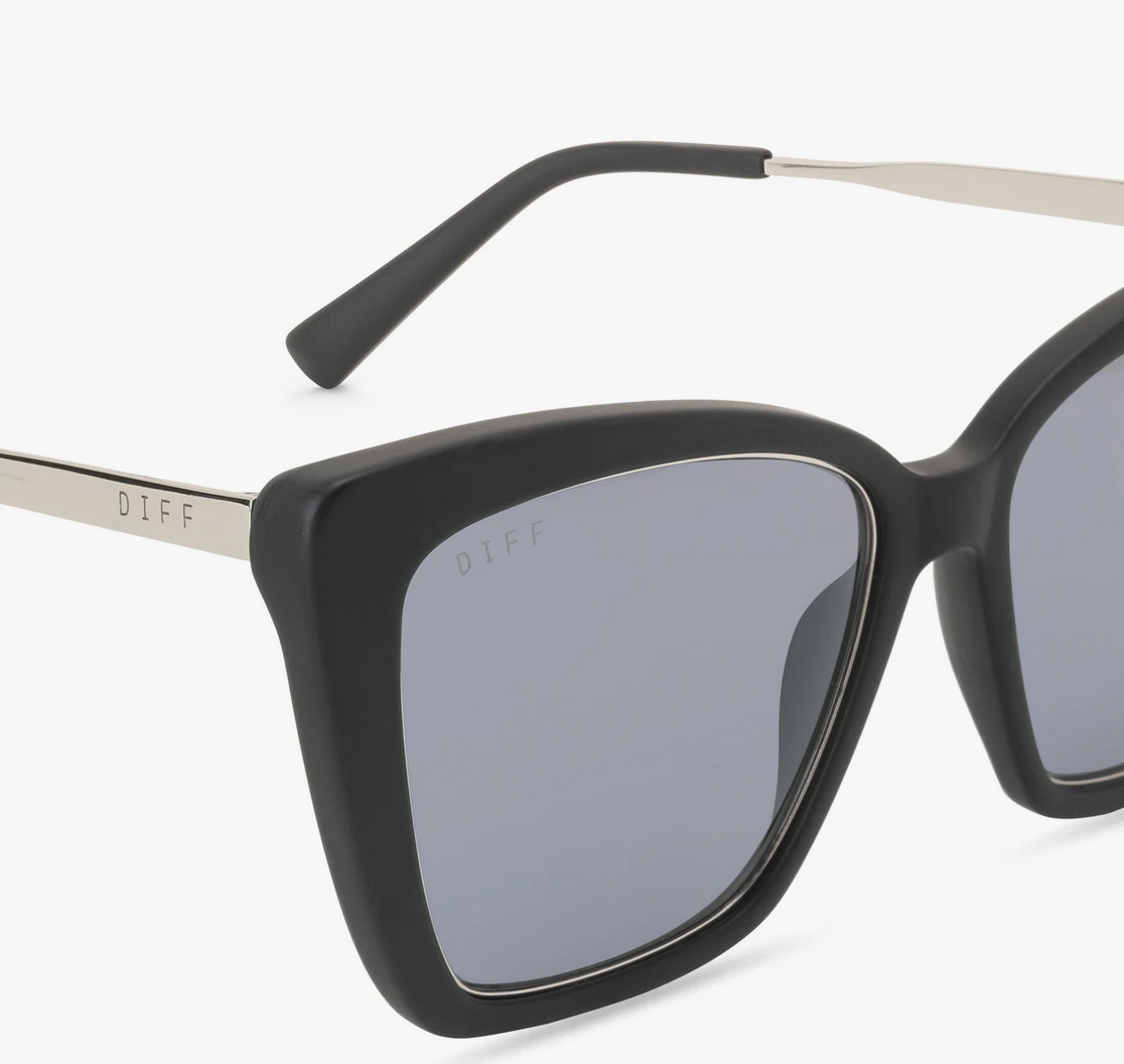 Diff Eyewear becky iv - matte black + grey mirror