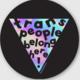 Ash + Chess Trans People Belong Here! Sticker