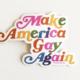 Ash + Chess Make America Gay Again Sticker