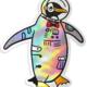 Compoco Space Penguin Holographic Sticker