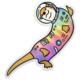 Compoco Space Otter Holographic Sticker