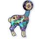 Compoco Space Llama Holographic Sticker