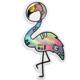 Compoco Space Flamingo Holographic Sticker