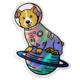 Compoco Space Corgi Holographic Sticker