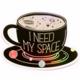 Compoco Space Coffee Holographic Sticker