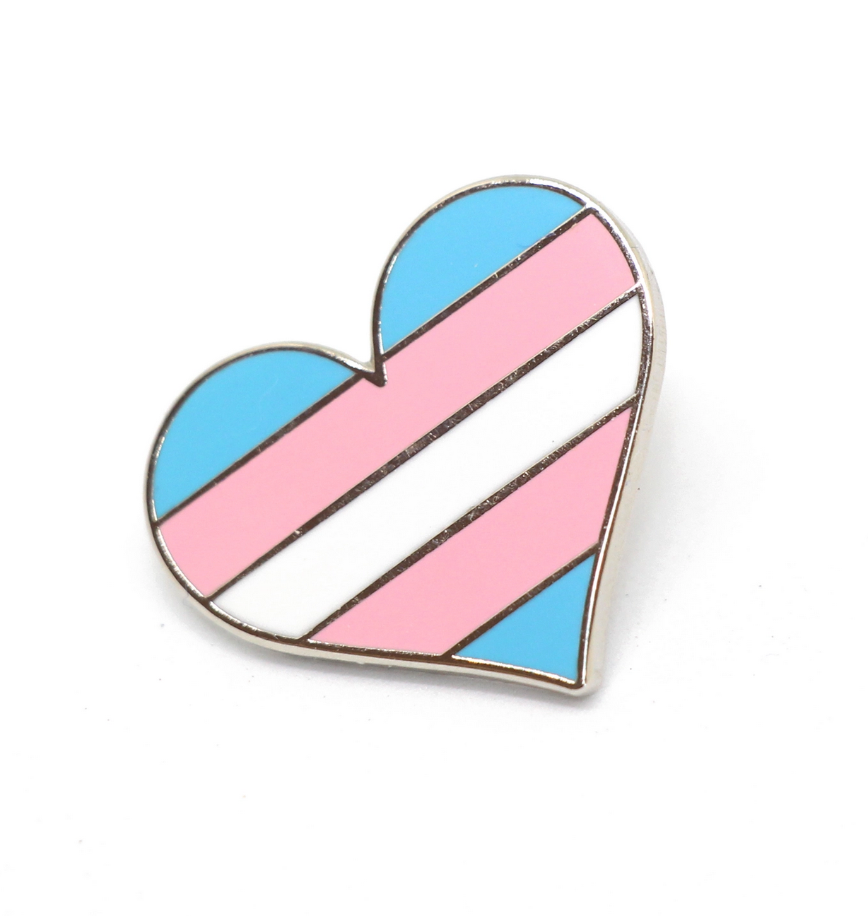 Compoco Transgender Flag Heart Pin
