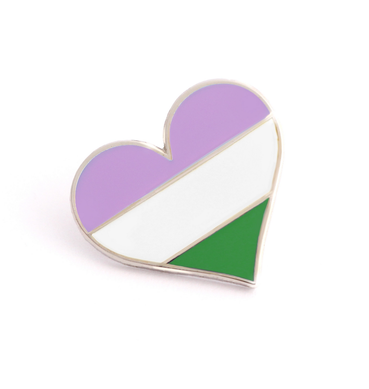 Compoco Queer Flag Heart Pin